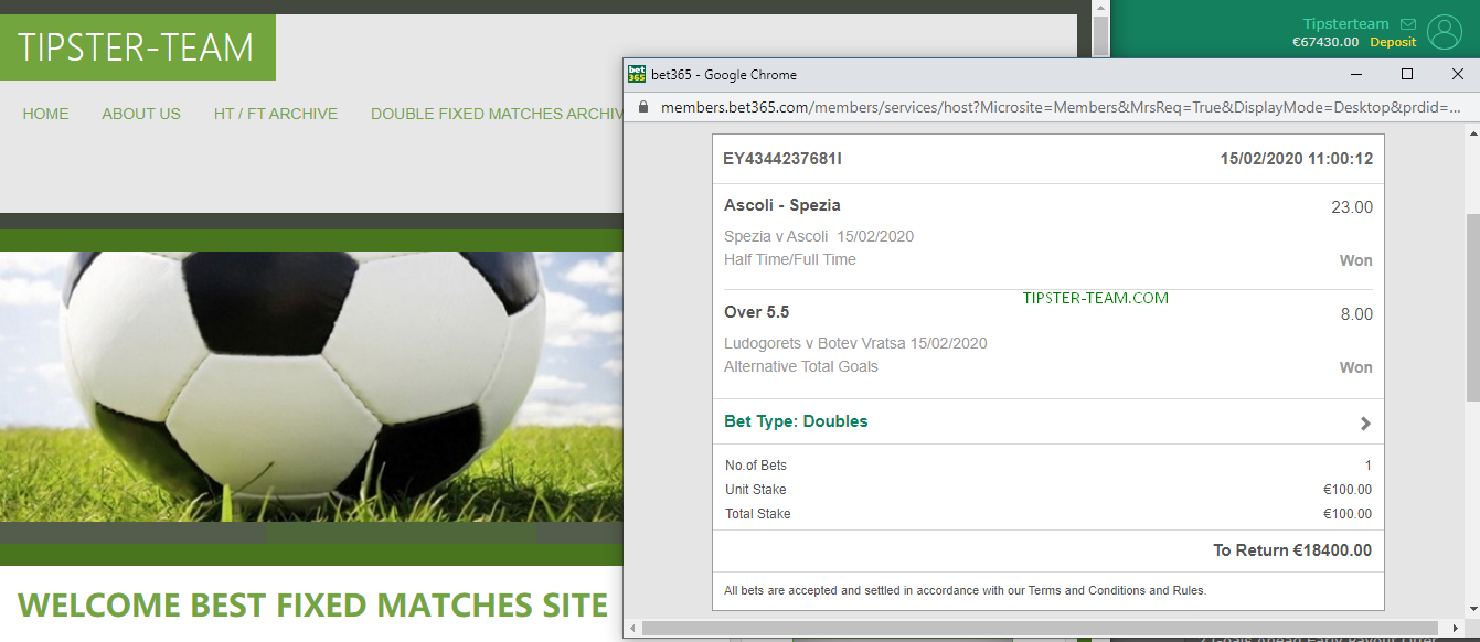 double fixed matches